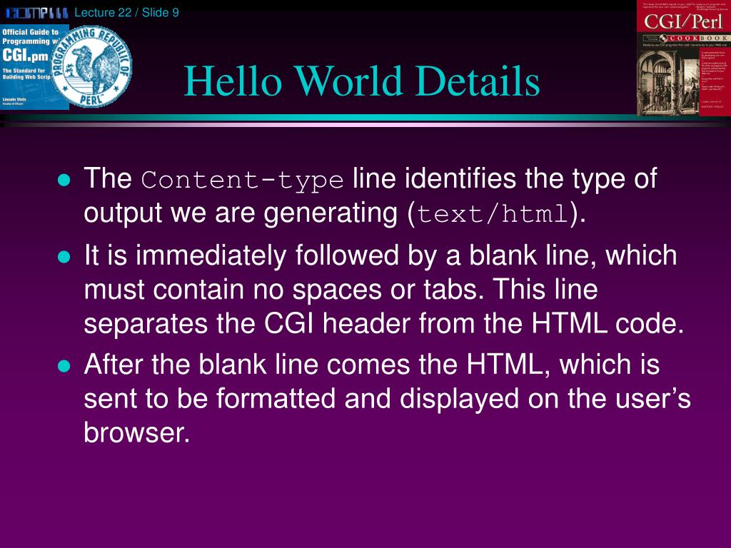 Hello World Details