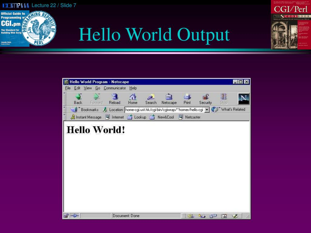 Hello World Output