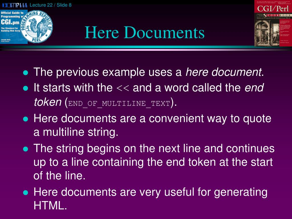 Here Documents