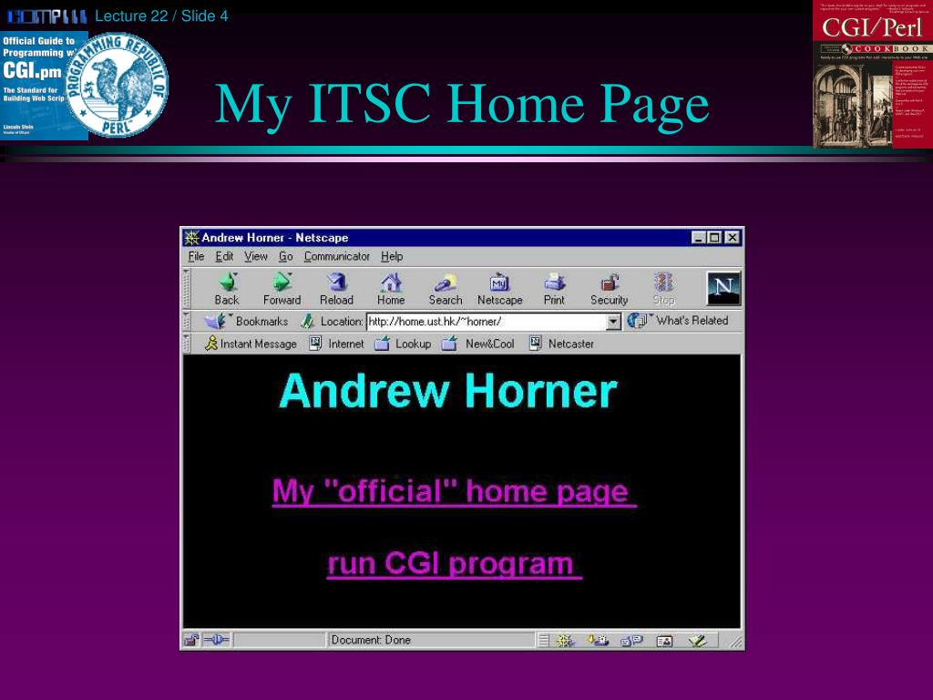 My ITSC Home Page