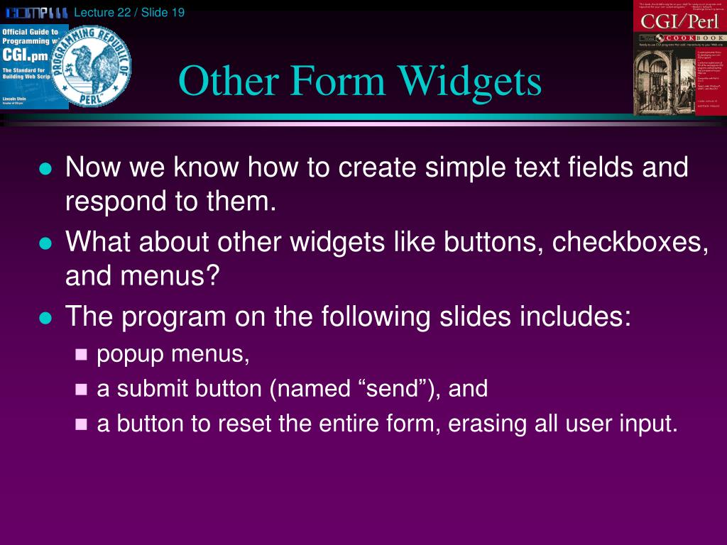 Other Form Widgets