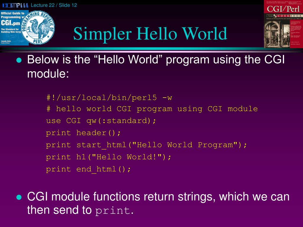 Simpler Hello World