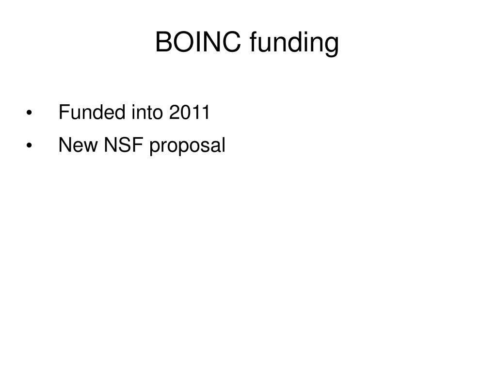 BOINC funding