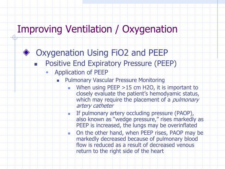 Improving Ventilation / Oxygenation