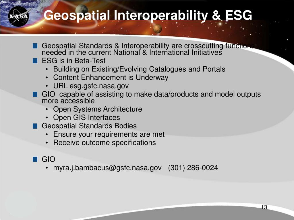 Geospatial Interoperability & ESG