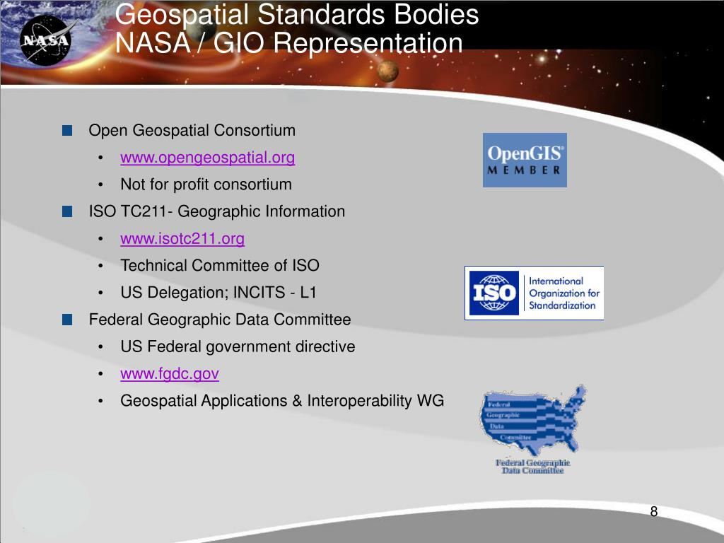 Geospatial Standards Bodies