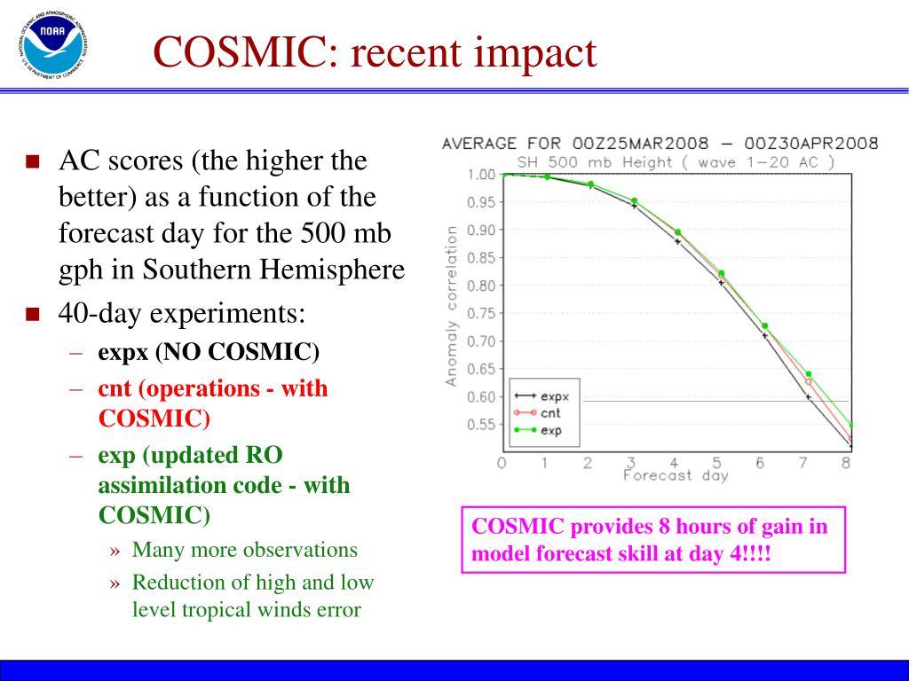 COSMIC: recent impact