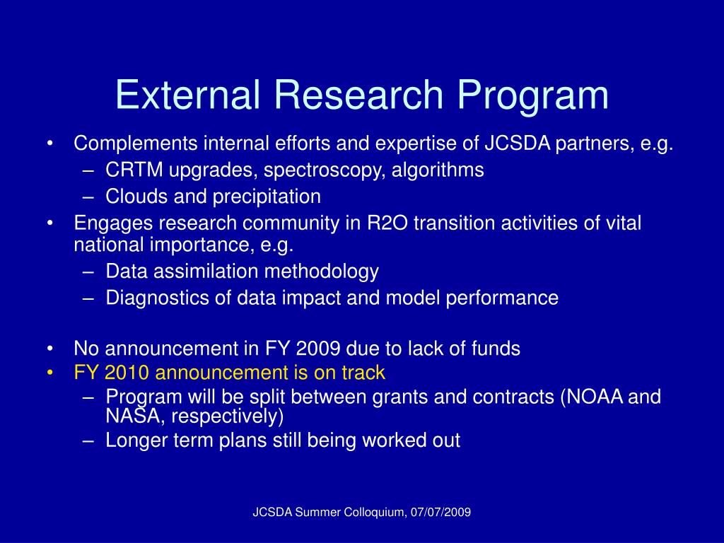 External Research Program