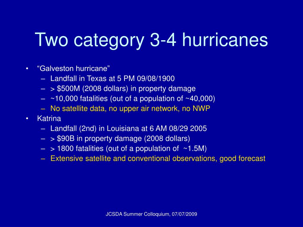 Two category 3-4 hurricanes