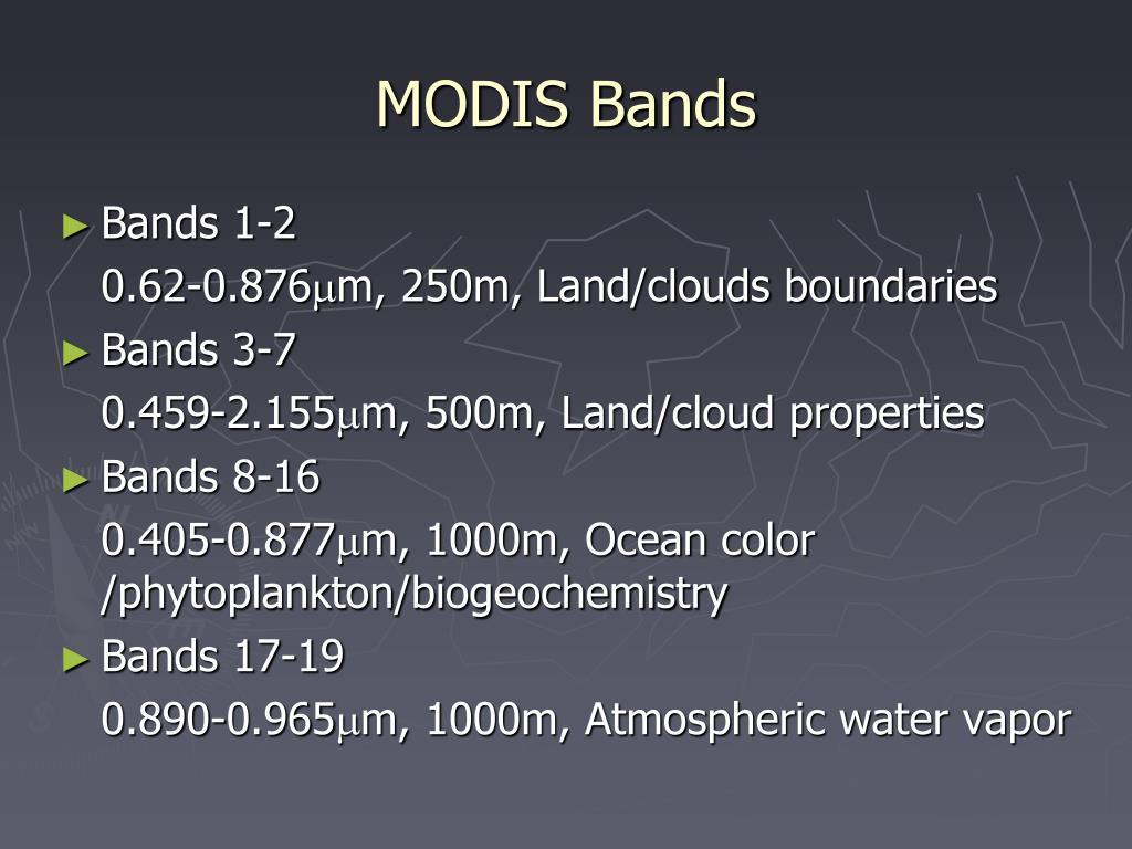 MODIS Bands
