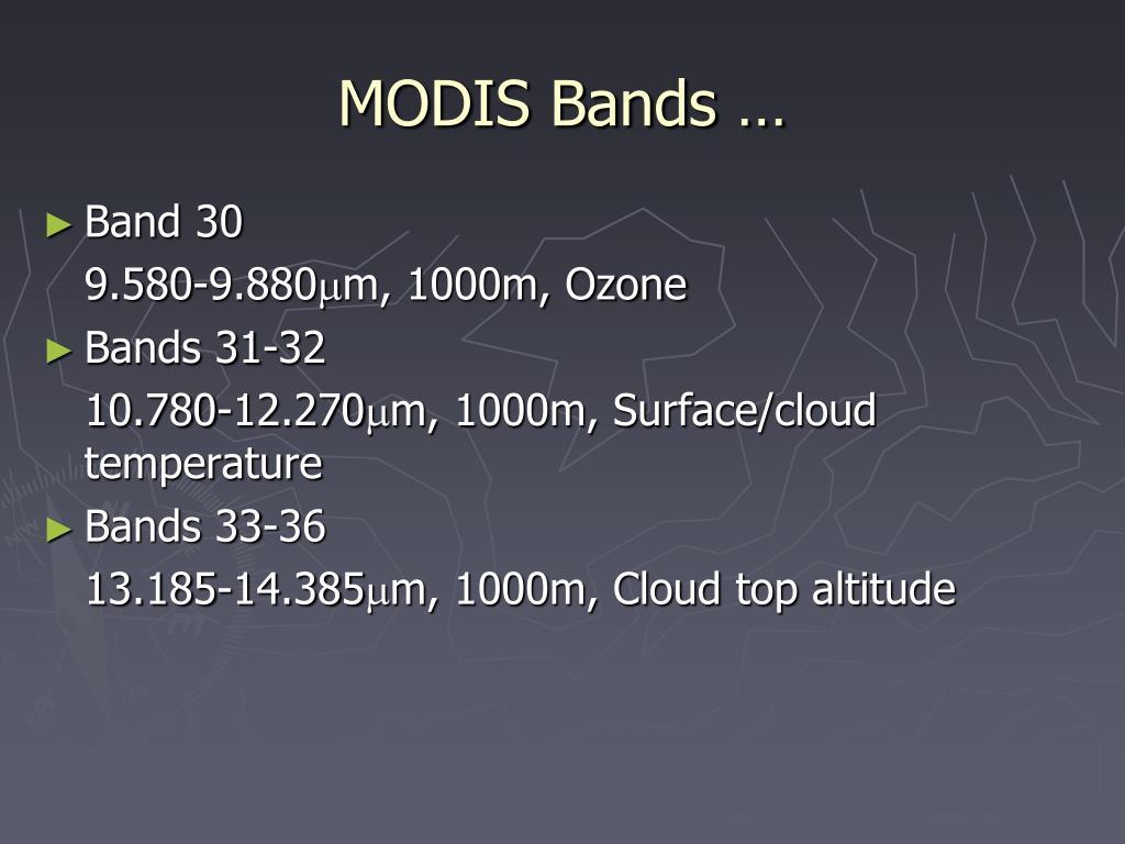 MODIS Bands …