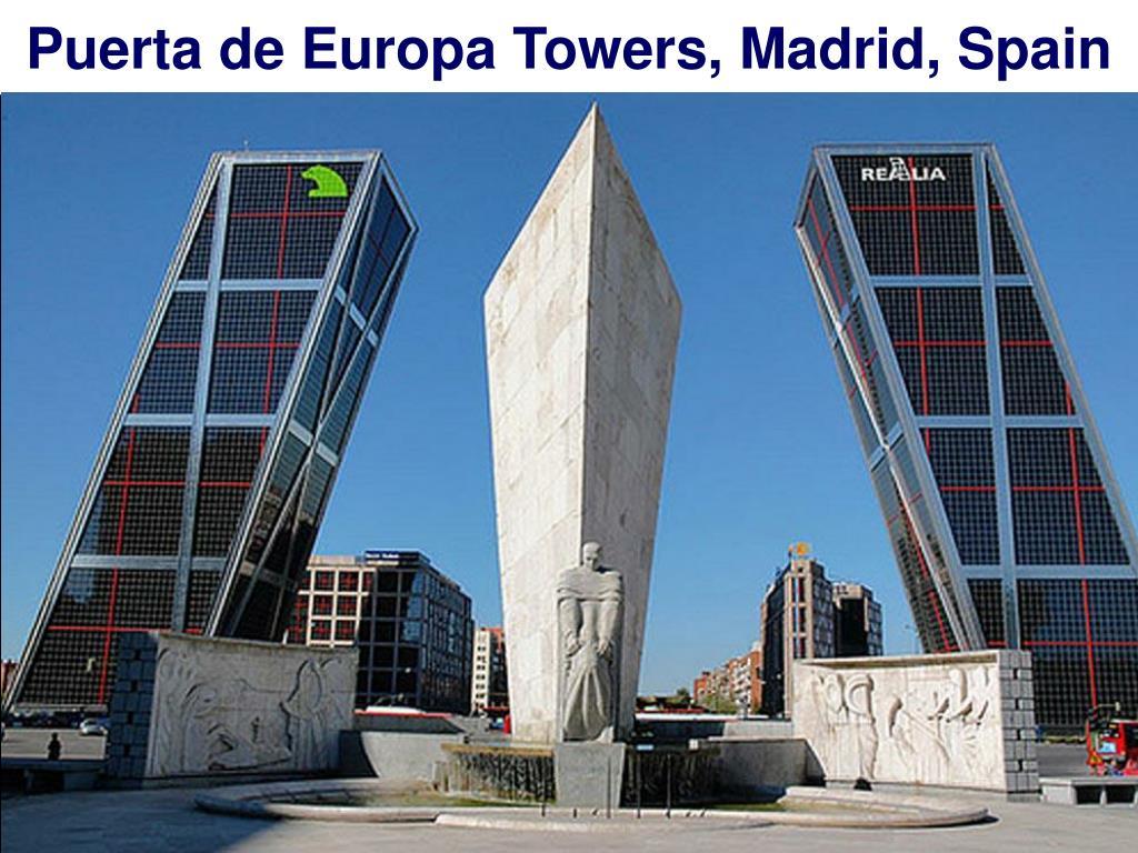 Puerta de Europa Towers, Madrid, Spain