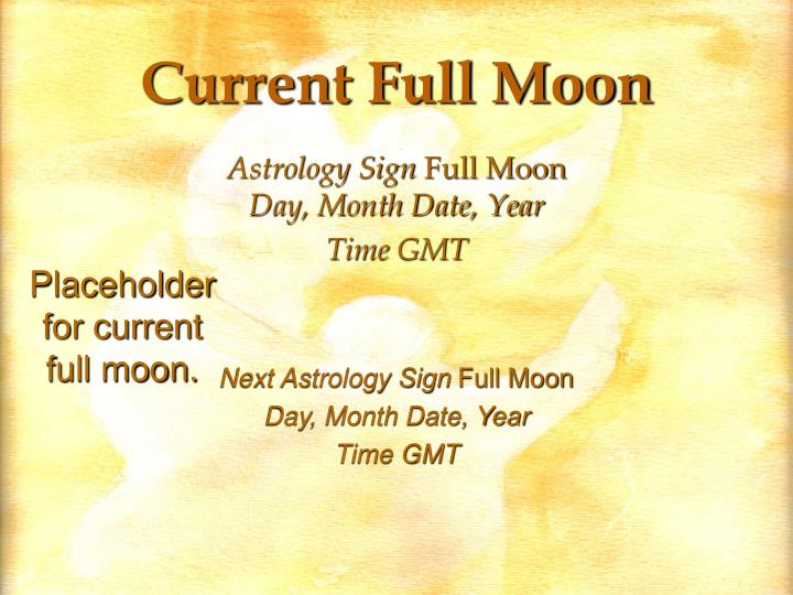 Current Full Moon
