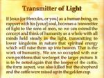transmitter of light