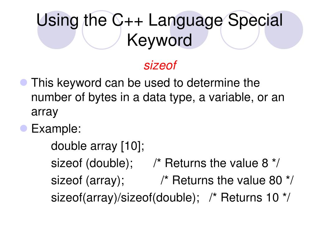 Using the C++ Language Special Keyword