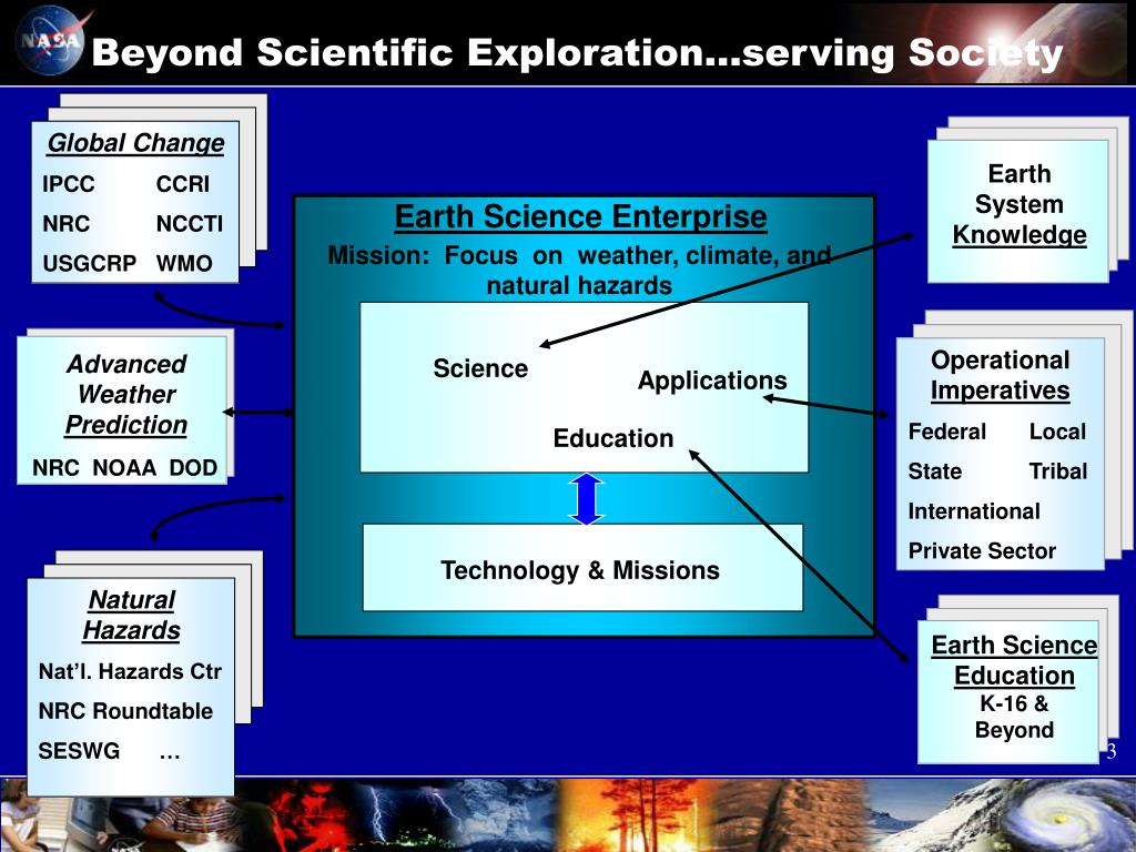 Beyond Scientific Exploration…serving Society