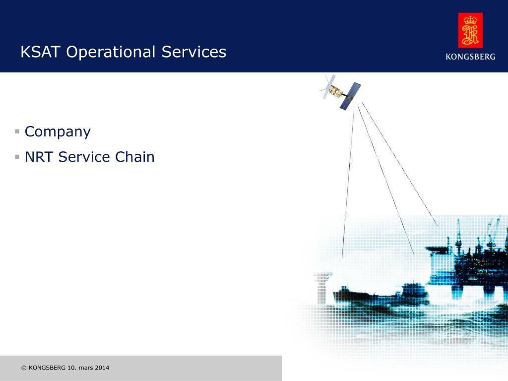 KSAT Operational Services