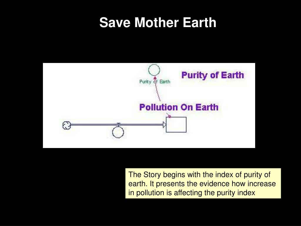 The Story begins with the index of purity of earth. It presents the evidence how increase in pollution is affecting the purity index