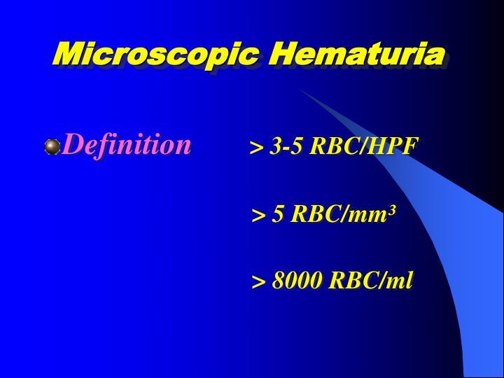 PPT - HEMATURIA PowerPoint Presentation - ID:1182331