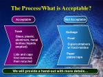 the process what is acceptable