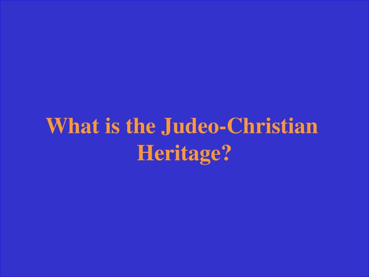 What is the Judeo-Christian