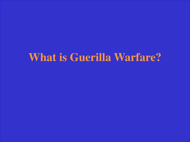 What is Guerilla Warfare?