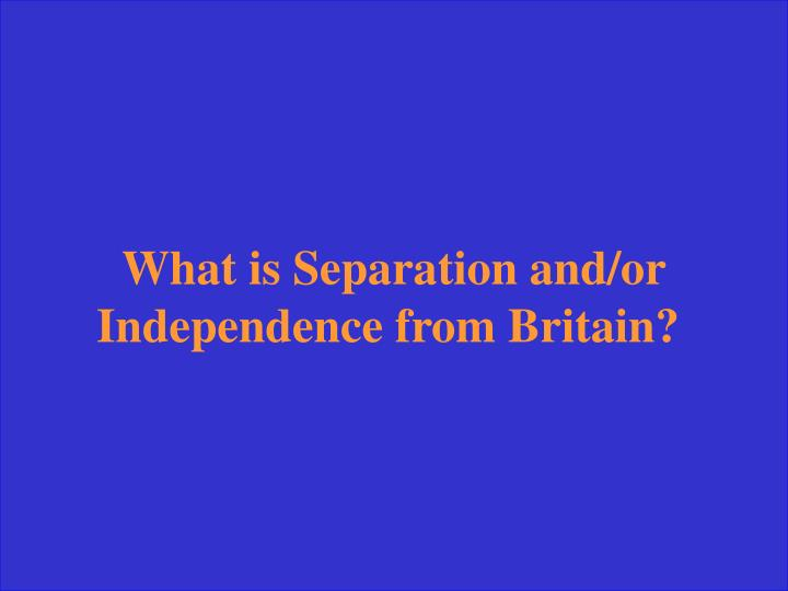 What is Separation and/or