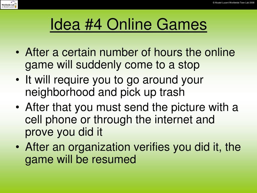 Idea #4 Online Games