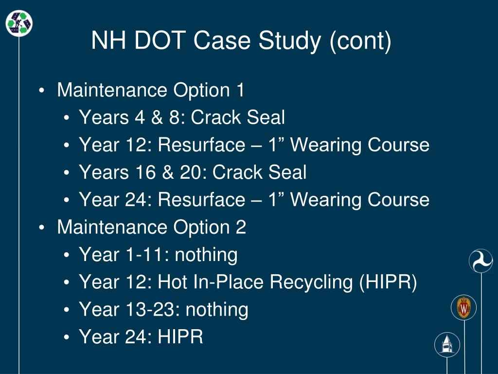 NH DOT Case Study (cont)