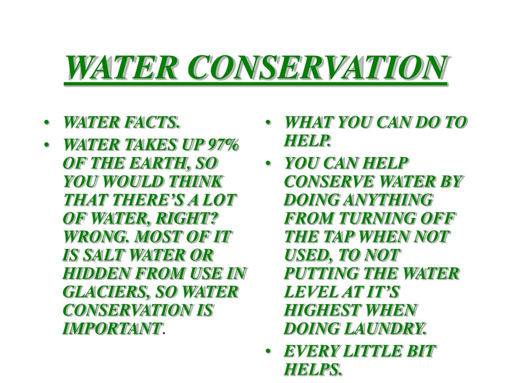 WATER FACTS.
