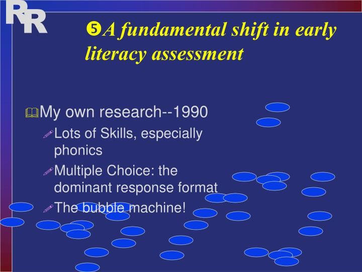 A fundamental shift in early literacy assessment