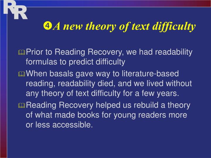 A new theory of text difficulty
