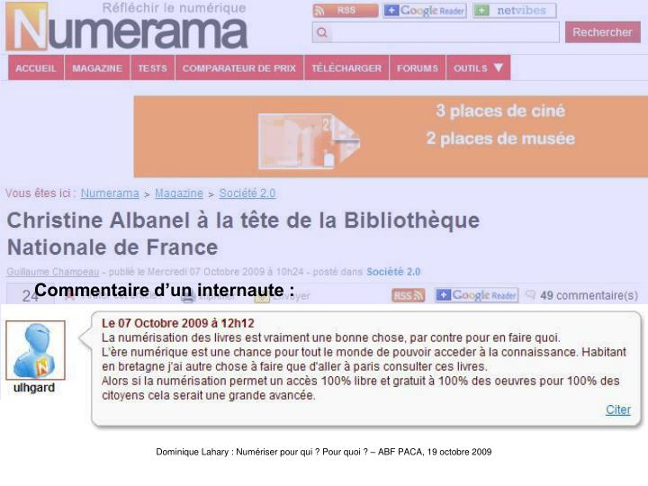 Albanelcommentaire