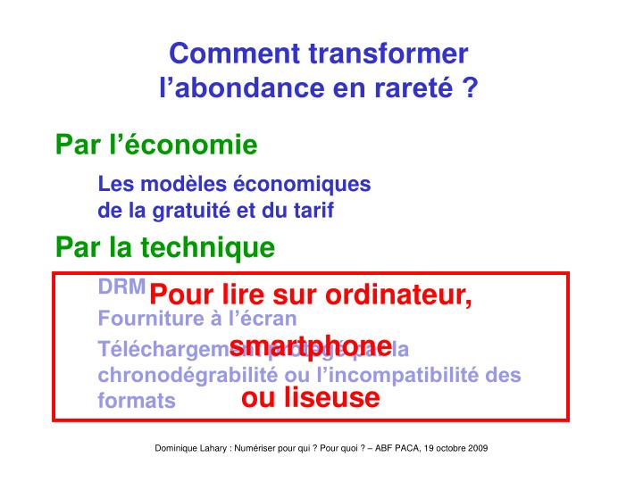 Comment transformer