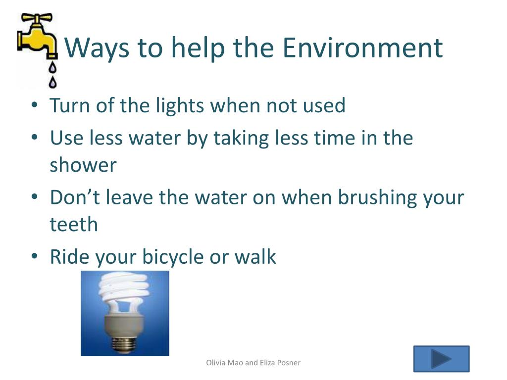 Ways to help the Environment