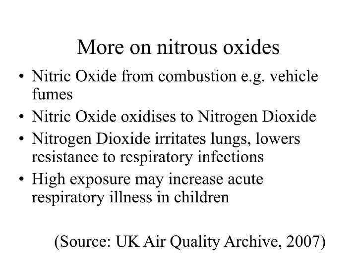 More on nitrous oxides