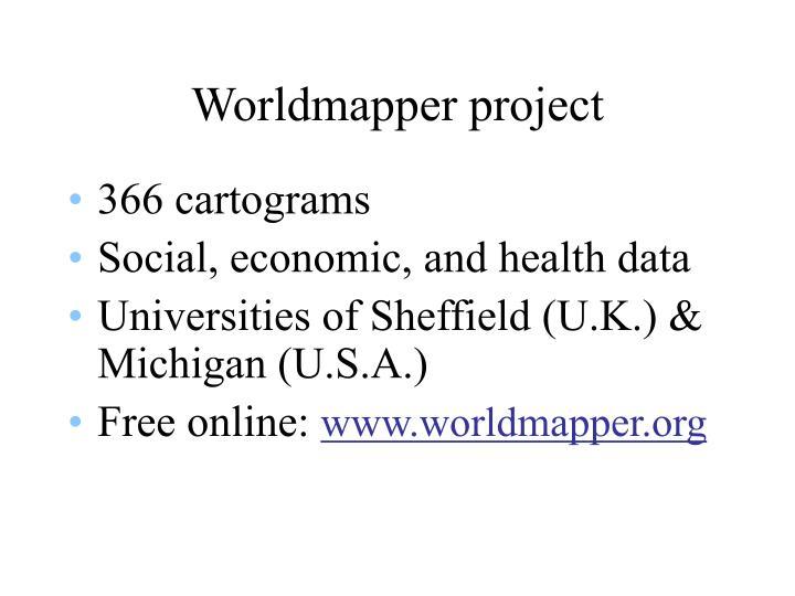 Worldmapper project