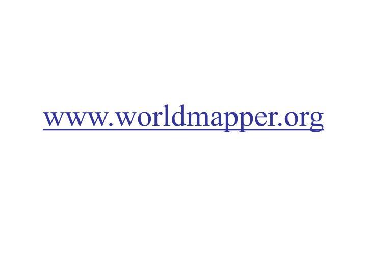 www.worldmapper.org