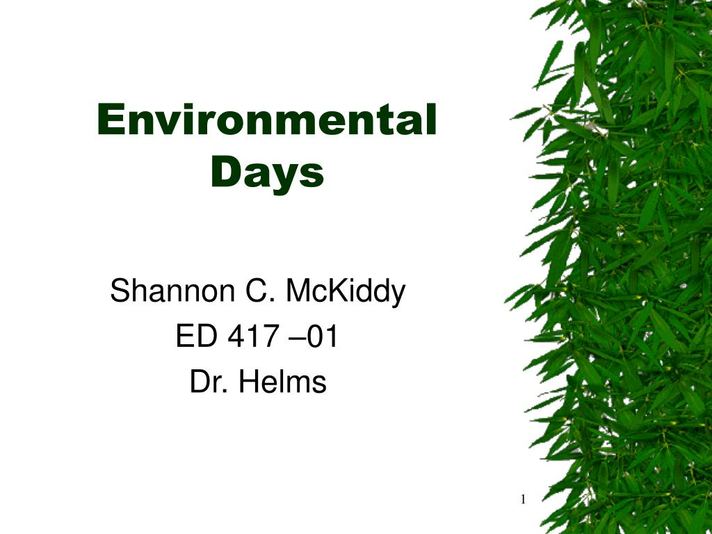 environmental days