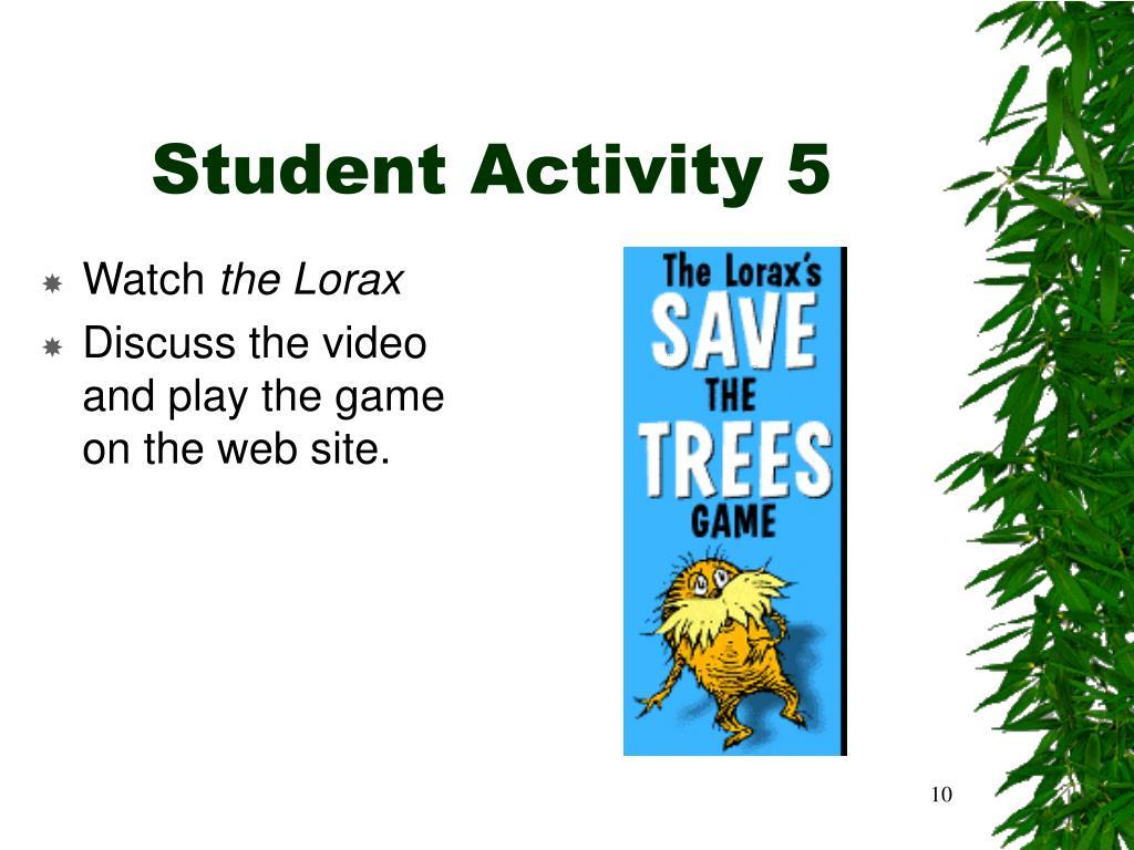 Student Activity 5
