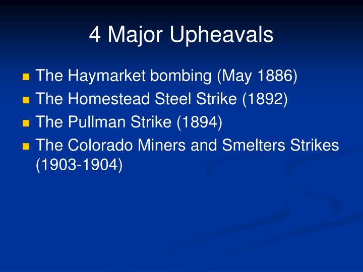 4 Major Upheavals