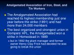 amalgamated association of iron steel and tin workers