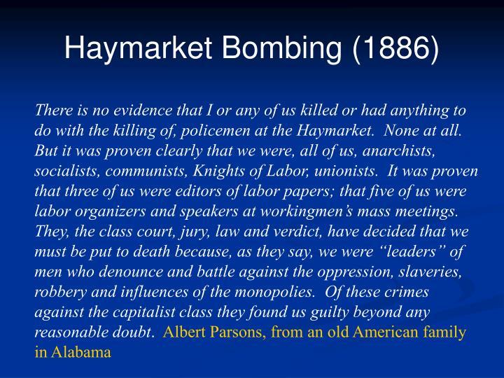 Haymarket Bombing (1886)
