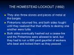 the homestead lockout 18927