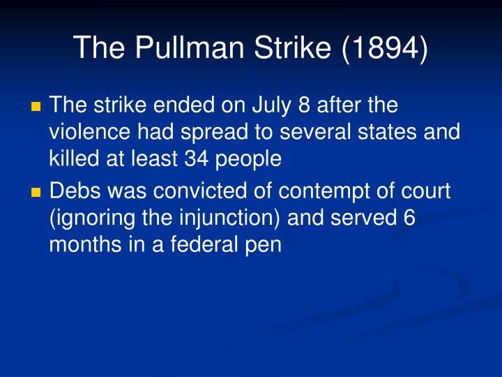 The Pullman Strike (1894)