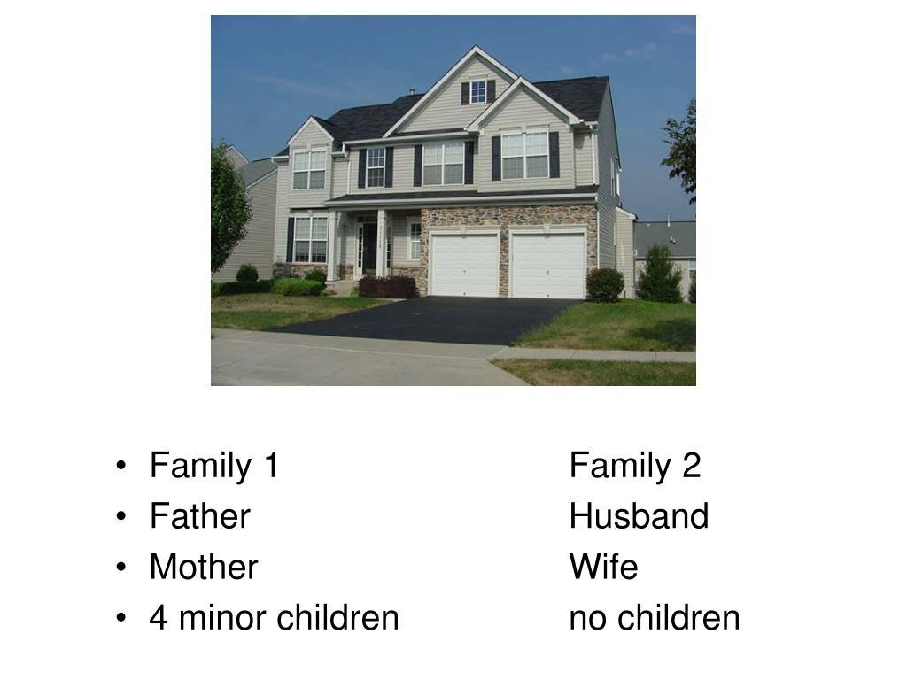 Family 1Family 2