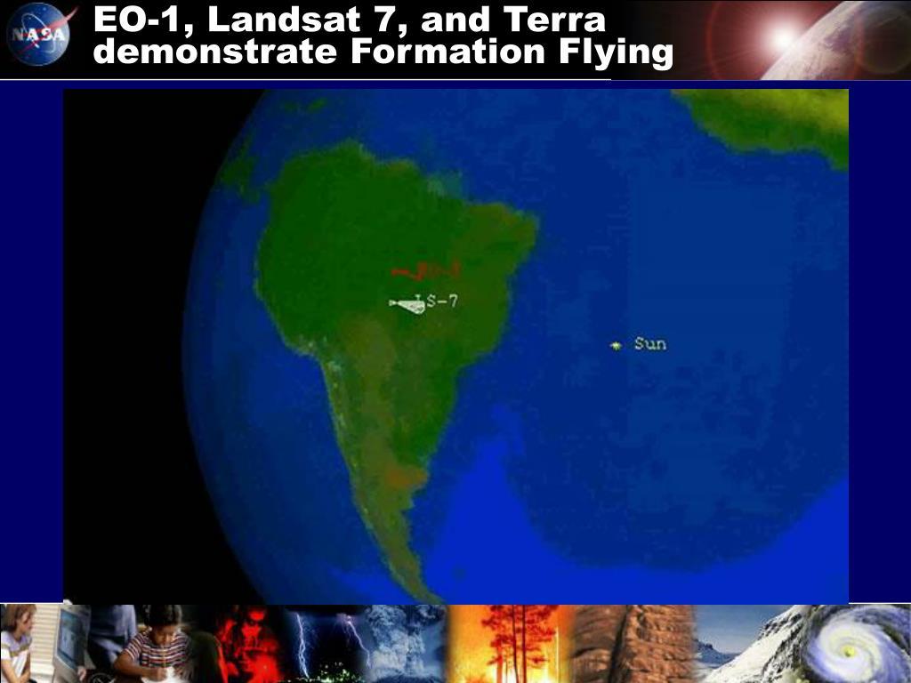 EO-1, Landsat 7, and Terra demonstrate Formation Flying