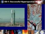 eo 1 successful hyperspectral mission