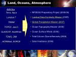 land oceans atmosphere