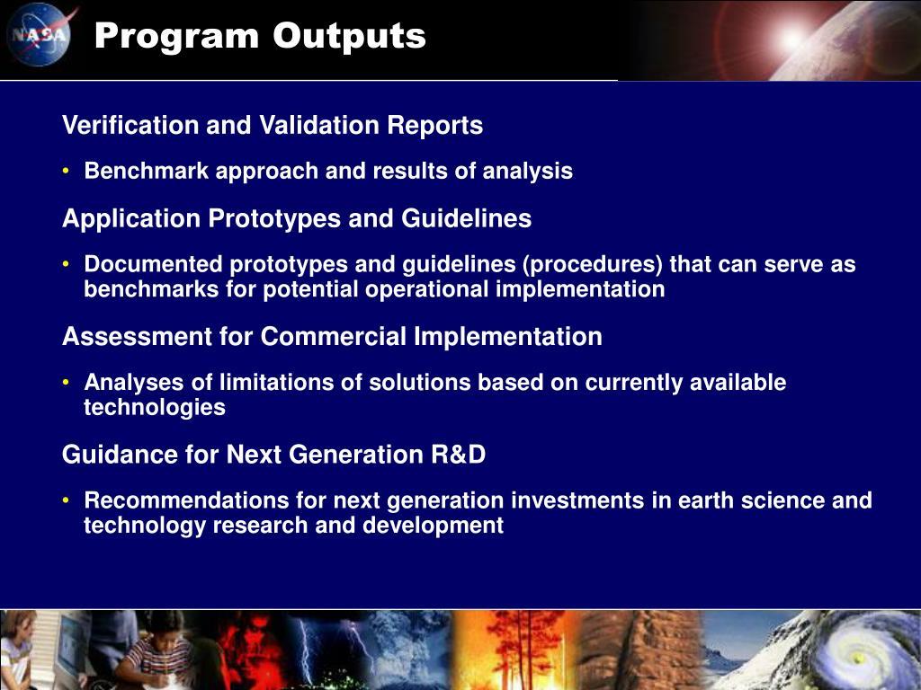 Program Outputs